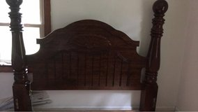 Brown Wooden Bed Frame King/Queen in Clarksville, Tennessee
