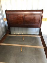 Full Sleight Bed Cherry Solid Wood in Fort Knox, Kentucky