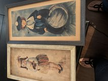 Antique framed prints in Conroe, Texas