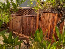 Fence restoration, clean, seal, stain, oil, in Sacramento, California