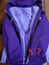 Girls  Winter Jacket 5-6 y/o purple color in Clarksville, Tennessee