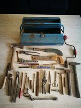 Old German Toolbox and tools in Ramstein, Germany