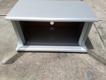 "Silver/Gray Wooded TV Stand 14""x22""x26"" in Kingwood, Texas"