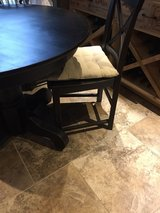 "Small 42"" black farmhouse table and 4 chairs in Kingwood, Texas"