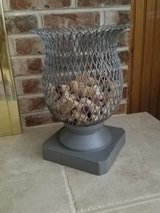 Large metal diamond pattern decor container in Westmont, Illinois
