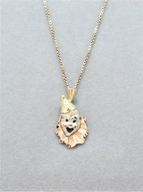 14K Rose, White and Gold Clown Pendant on 14K Rose Gold Box Chain 4.136 Grams in Camp Lejeune, North Carolina