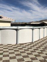 18 x34 above ground pool in Yucca Valley, California