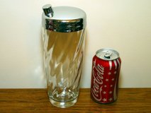 Vintage Chrome & Swirled Glass Cocktail Shaker in Glendale Heights, Illinois