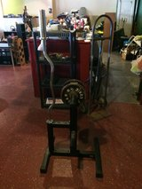 Curl Bar and Weight Bar Stand in Leesville, Louisiana