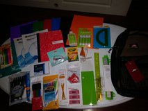 Mesh backpack with school supplies in Kingwood, Texas