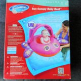 SUN CANOPY BABY BOAT NEW New in box PINK Adjustable Canopy in Naperville, Illinois