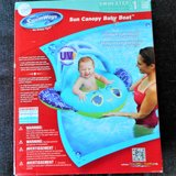 SUN CANOPY BABY BOAT NEW New in box Adjustable canopy BLUE in Naperville, Illinois