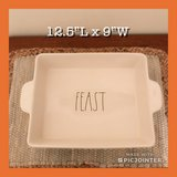 New Rae Dunn Large FEAST Casserole Dish in Hampton, Virginia