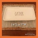 New Rae Dunn Large GATHER Platter/Dish in Hampton, Virginia