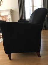 Black Suede couch in Lockport, Illinois
