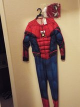 NWT Rubies Marvel Spiderman Sz L 12-14 Boys Costume Light up Muscles in Conroe, Texas
