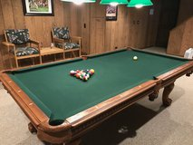 Pool Table and Chair Set in Glendale Heights, Illinois