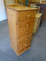 Pine tall chest of drawers in Lakenheath, UK