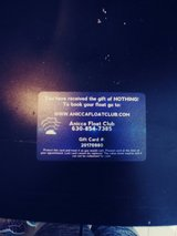 A gift card to float cub in Chicago, Illinois