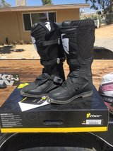 dirt bike quad riding boots size 7 Thor in Yucca Valley, California