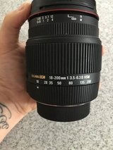 Sigma DC 18-200mm lens for Nikon in Schofield Barracks, Hawaii