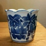 Handmade Vintage Blue and White Asian - Planter in Fort Leonard Wood, Missouri