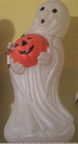 Blow molded ghost 30 inches tall in Oswego, Illinois