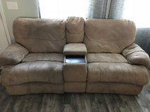 reclining couch w/center console in Camp Lejeune, North Carolina