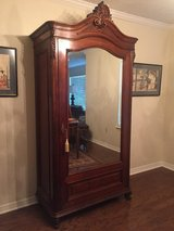 Antique Large French Armoire Wardrobe w/ Mirror and Key in Lawton, Oklahoma