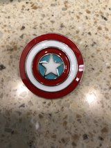 Captain America's Shield Pin in Camp Pendleton, California