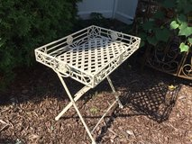 Folding Heavy Wrought Iron Patio / Garden Tray in Naperville, Illinois