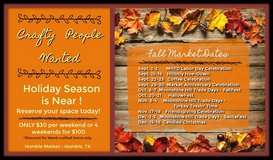 Crafty People Needed! Old Tyme Market in Spring, Texas