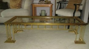 Vintage brass coffee table in Wheaton, Illinois