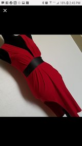 Low-Cut High-Slit Red Dress in 29 Palms, California