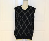 Club Room Large Men's Vest Black Diamond Argyle Sweater Winter Cold in Kingwood, Texas
