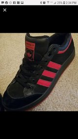 Black and Red Adidas 'Americana' in 29 Palms, California