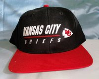 Kansas City Chiefs Adult Black Hat Adjustable Baseball Cap in St. Louis, Missouri