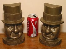 Vintage W.C. Fields Bookends '60s WC in Glendale Heights, Illinois