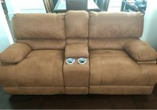Power Loveseat recliner w/ console in Wilmington, North Carolina