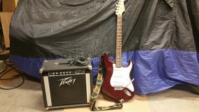 Fender Stratocaster Guitar with Peavey amp in Alamogordo, New Mexico