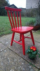 Red Retro Childs Stick Back Chair in Lakenheath, UK