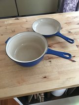 Le Creuset enameled cast iron 2-IN-1- skillet and pot in Aurora, Illinois