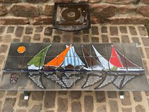 true vintage coffee table from France - boats in Ramstein, Germany