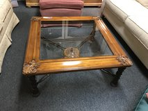 Glass top coffee table in Oswego, Illinois