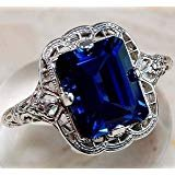 ***BRAND NEW***STUNNING Sapphire  Emerald Cut Ring***SZ 8 in Sugar Land, Texas