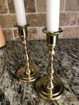 Baldwin Solid Polished Brass Candlesticks - 7 inch in Shorewood, Illinois