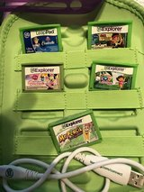 Leap Frog LeapPad with 5 games & silicone purple extra case in Spring, Texas
