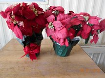 (2) Silk Poinsettas - BOX 77 in Alamogordo, New Mexico