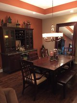 Dining Table, Chairs & Bench - Like NEW! Extendable! in St. Charles, Illinois