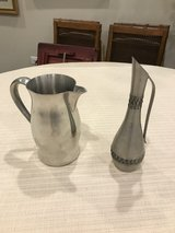 2 pewter pitchers in Plainfield, Illinois